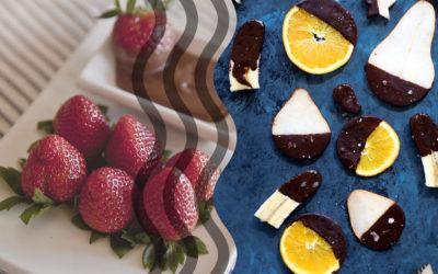 Chokolade- og frugtkombinationer